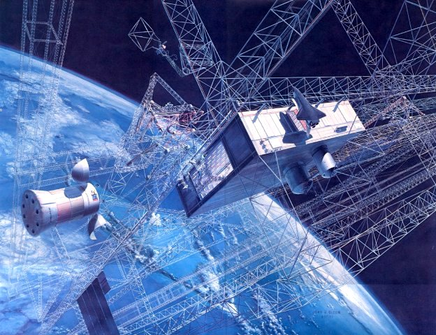 Solar Power Satellite art set | Space Studies Institute