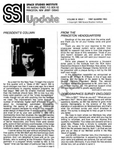 Space Studies Institute  Newsletter 1983 Q1