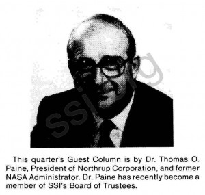 Space Studies Institute 1981 Q4 Newsletter guest image