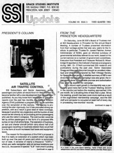Space Studies Institute Newsletter Q3 1982