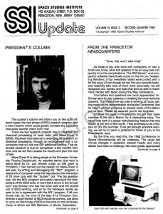 Space Studies Institute Newsletter 1983 Q2