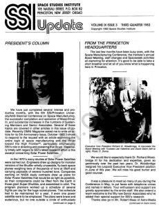 Space Studies Institute Newsletter 1983 Q3