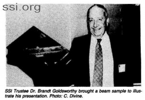 Space Srtudies Institute Newsletter 1983 Q3 image 6 Brandt Goldsworthy
