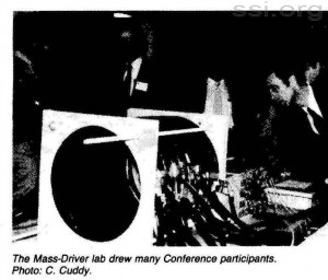 Space Studies Institute Newsletter 1983 Q3 image 7 Mass Driver
