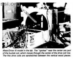 Space Studies Institute Newsletter 1983 Q2 image 2 Mass Driver