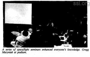 Space Studies Institute Newsletter 1984 MayJune image 3  Gregg mayniak
