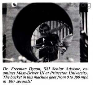 Space Studies Institute Newsletter 1986 JanFeb Freeman Dyson mass driver