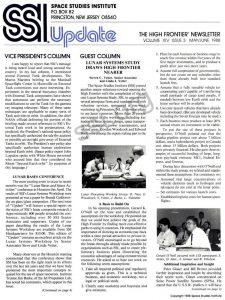 Space Studies Institute  Newsletter 1988 MayJune cover