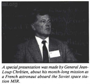 Space Studies Insitute Newsletter 1989 JulyAugust image 11 Jeanb-Loup Chretien