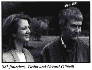 Space Studies Institute Newsletter 1989 July August Gerard & Tashi O'Nei