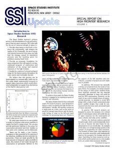Space Studies Institute Research 1990 cover