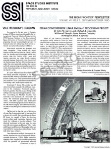 Space Studies Institute Newsletter 1990 SeptOct cover