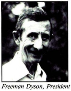 Space Studies Institute Newsletter 1992 NovDec image 1 Freeman Dyson