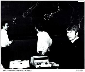 SSI Newsletter 1993 NovDec image 2 Gerard K O'Neill Princeton 1969