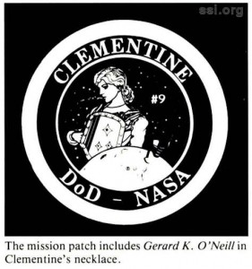 Space Srtudies Institute Newsletter 1994 JanFeb Clementine Mission Logo