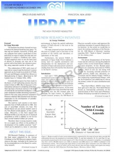 Space Studies Instititue Newsletter 1995 Q4 cover