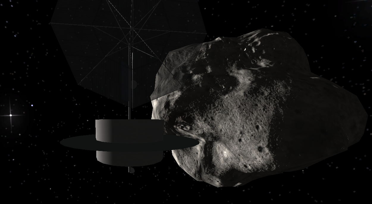 High Frontier Simulation Asteroid location
