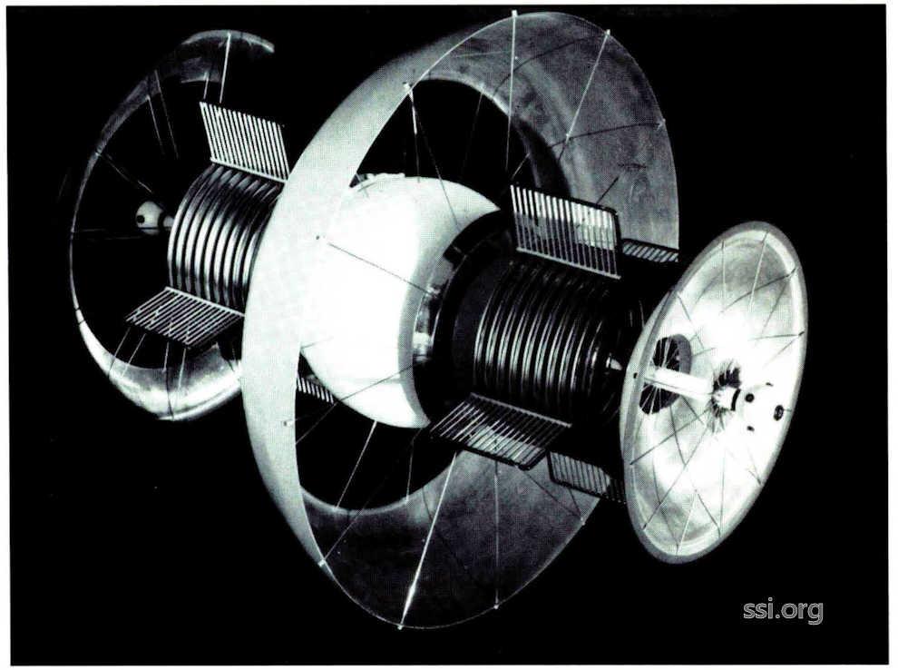 Space Studies Institute Newsletter 1992 NovDec image 9 Beranal Sphere model