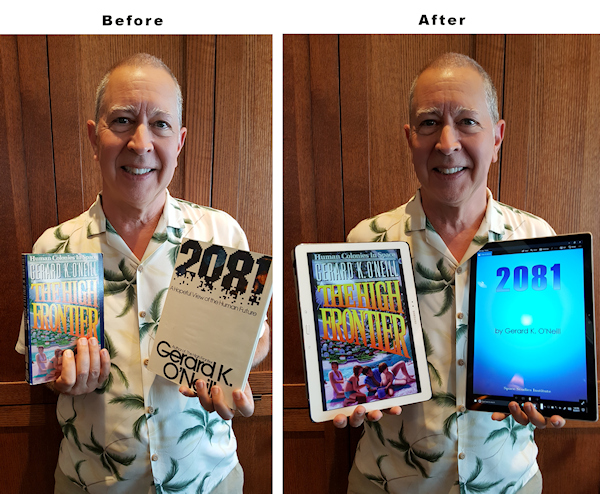 SSI President Gary C Hudson shows the evolution of reading... as predicted in the book 2081